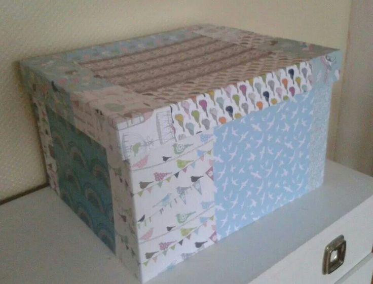 Covered storage box.