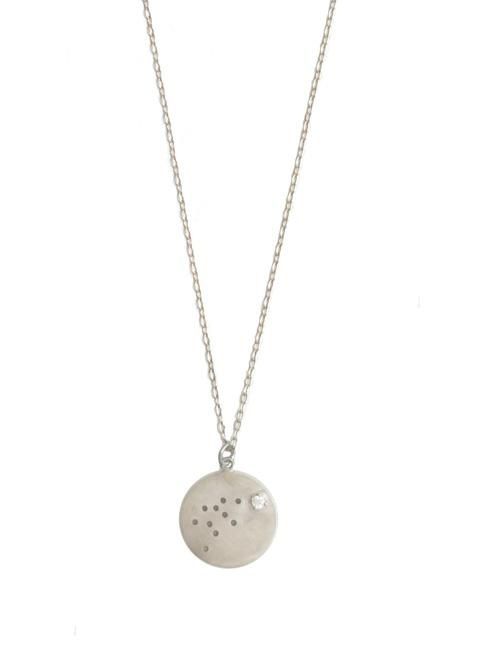 The small dots on this necklace are actually constellation points for aquarius.  Represent your star sign!