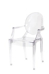 Transparent acrylic dining chair.....I need 8 of these little babies.