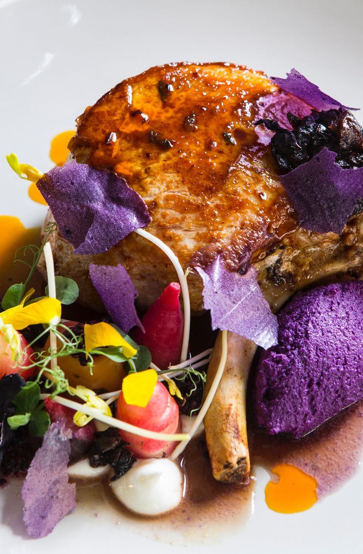 This stunning pork chop recipe from Robert Ortiz is perfect for a barbecue and offers an unusual spin on a much loved combination, with marinated pork chop, vibrant red cabbage and juicy California prunes.