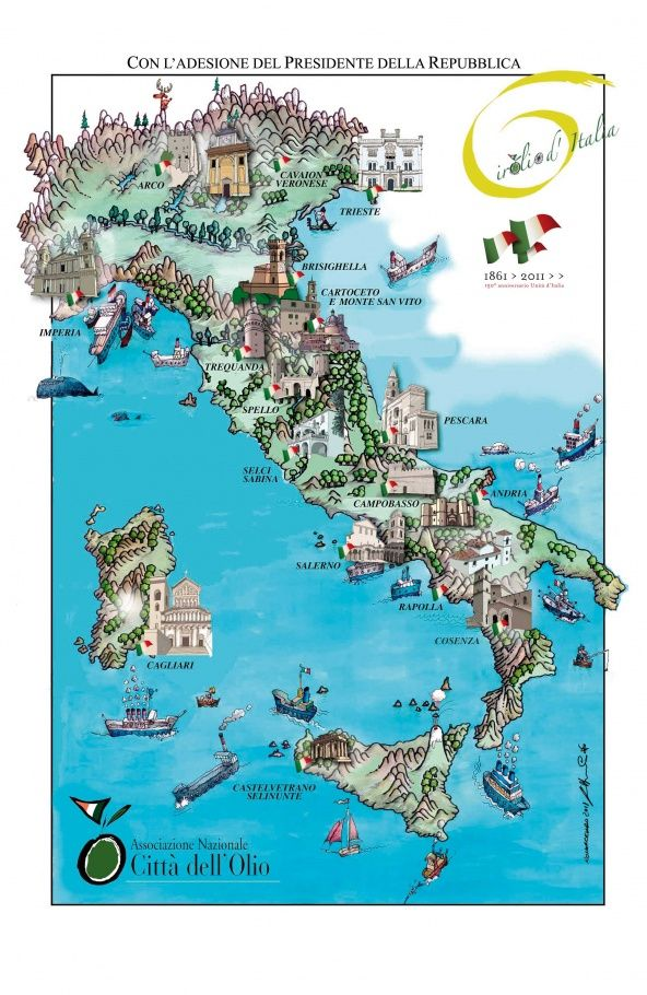 Map of The Best Producers of the World Famous Italian Olive Oil. #thecopperolive
