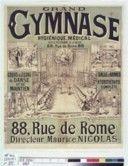 gym Europeana Grand gymnase hygiénique, médical...88 rue de Rome...Cours & leçons de danse et de maintien, salle d'armes, hydrothérapie complète.. . : [affiche] / [Non identifié]