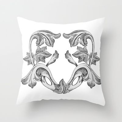 GREAT LOVE B & W Throw Pillow by Chicca Besso - $20.00