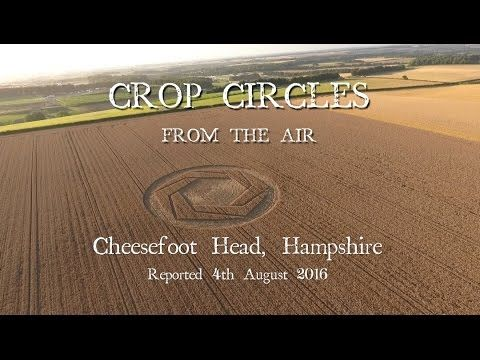 Crop Circles from the Air: Cheesefoot Head, Hampshire. Reported 4th Augu...