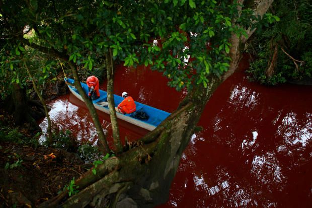 Mexican thieves cause spills - Spills pollute Mexican rivers - Pictures - CBS News