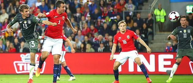 WM Quali -Sept 2016: Norwegen-Deutschland 0:3 - Müllers Kopfball zum 3:0 gegen Norwegen...