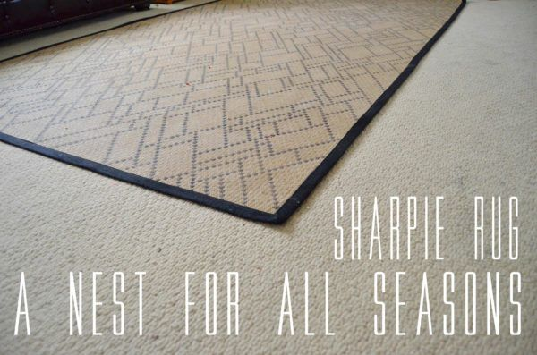 The Sharpie Rug By A Nest For All Seasons Diy Sharpie Crafts Sharpie Crafts Sharpie