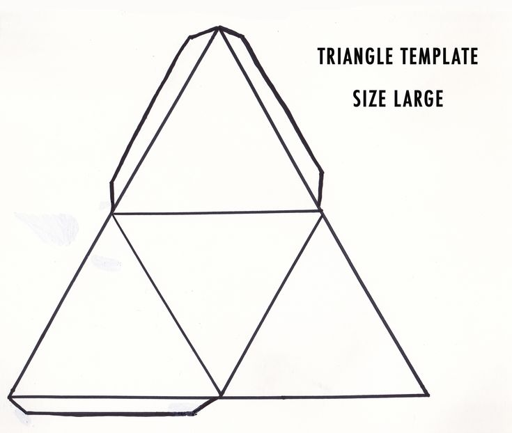 jewelry bracelet large triangle template  Education