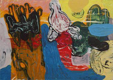 """Saatchi Art Artist Øyvind Suul; Painting, """"Mind map #18"""" #art"""
