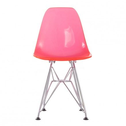 Eames Inspired Eiffel Kids Chair in Pink