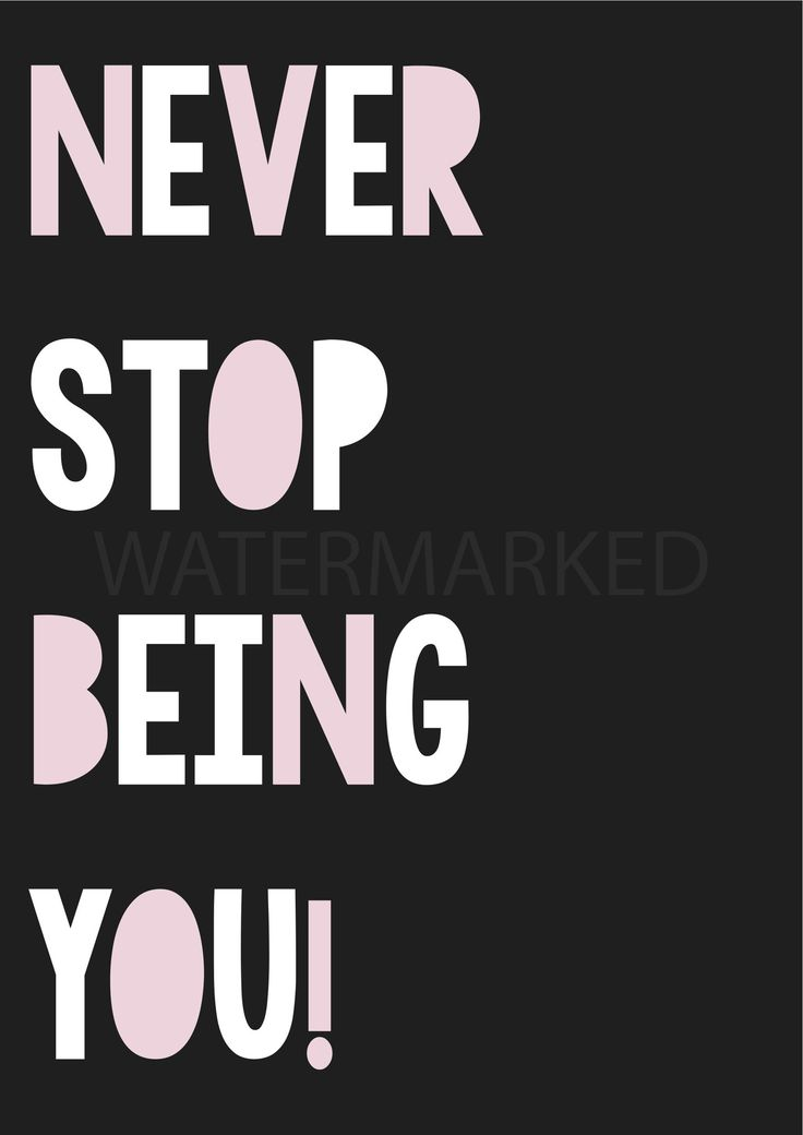 """""""Never stop being YOU"""" poster decal - black and pink (open for pre-orders) 