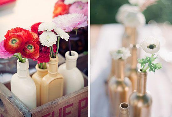 Riciclo creativo: bottiglie di vetro