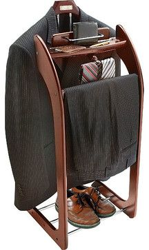Mahogany Clothes Valet Stand - contemporary - Coat Stands And Umbrella Stands - Overstock.com