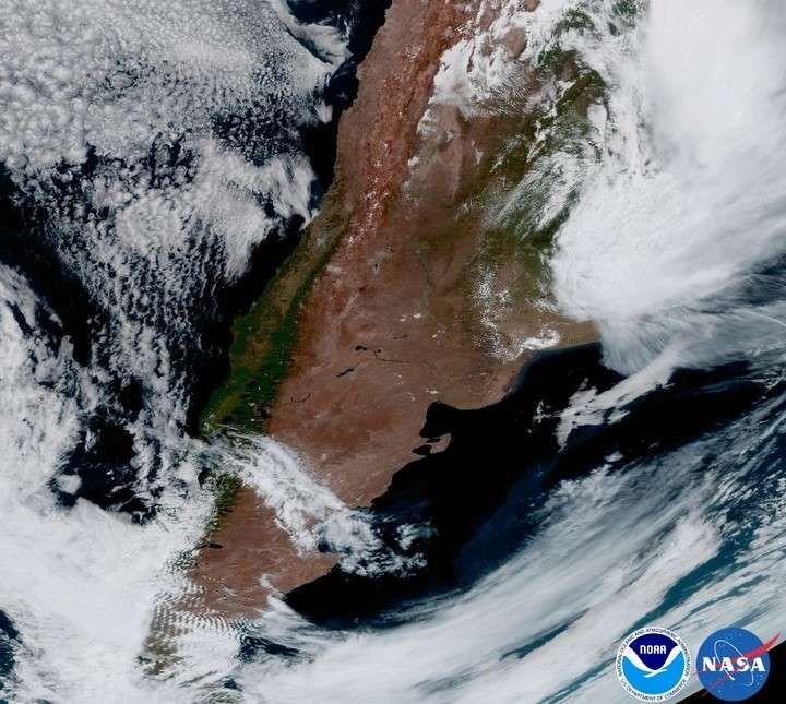 Un súper satélite meteorológico ya está en órbita y envió imágenes de Argentina