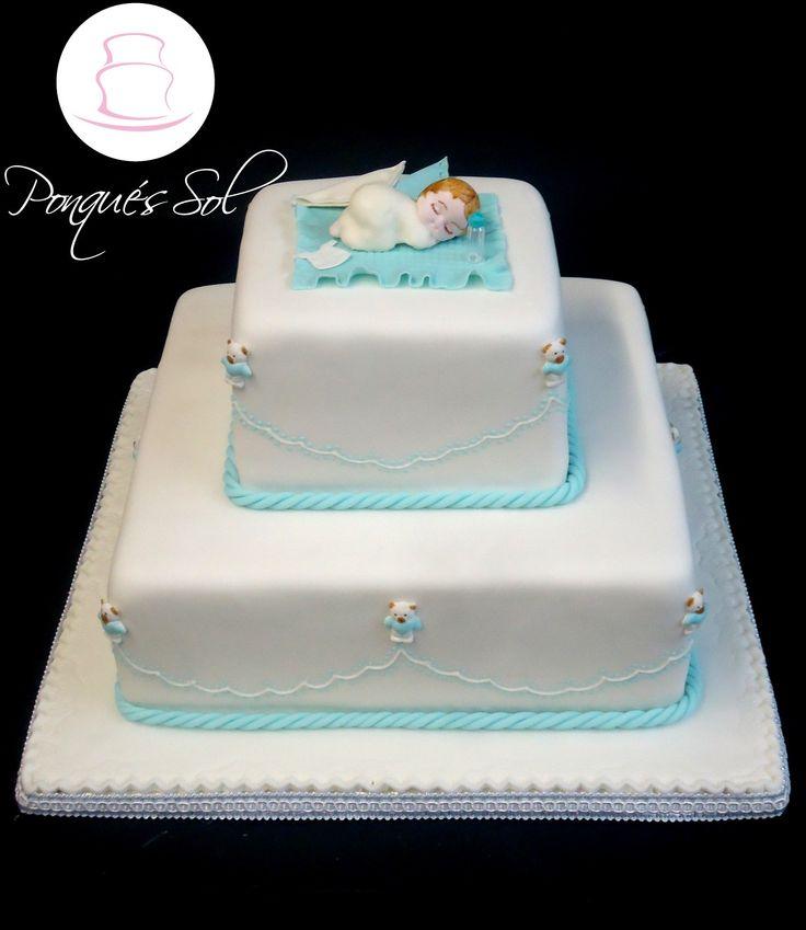 Ponqué/Torta de Bautizo Baptism Cake
