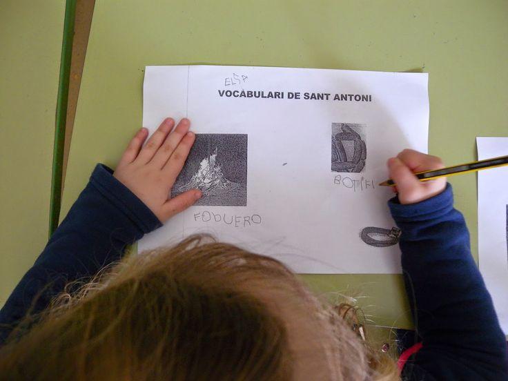 Treballant el vocabulari de Sant Antoni