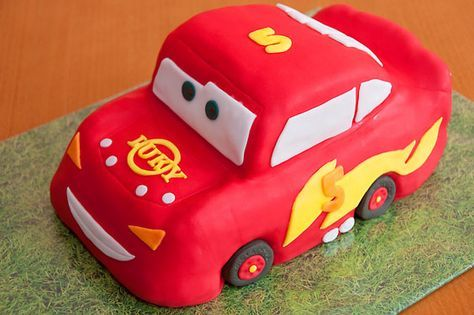 STEP BY STEP Cake  Lightning McQueen