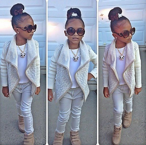 Kids fashion. Adorable little girls fashion.