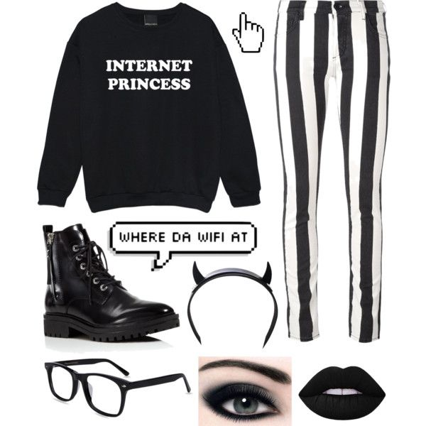 Untitled #10 by pastellilapsi on Polyvore featuring Off-White, Kendall + Kylie, Club Exx, Lime Crime and Microsoft