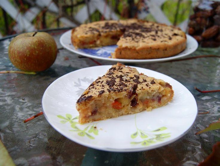 Szarlotka, czyli mus  jabłkowy opakowany cieniutkim ciastem, bez glutenu
