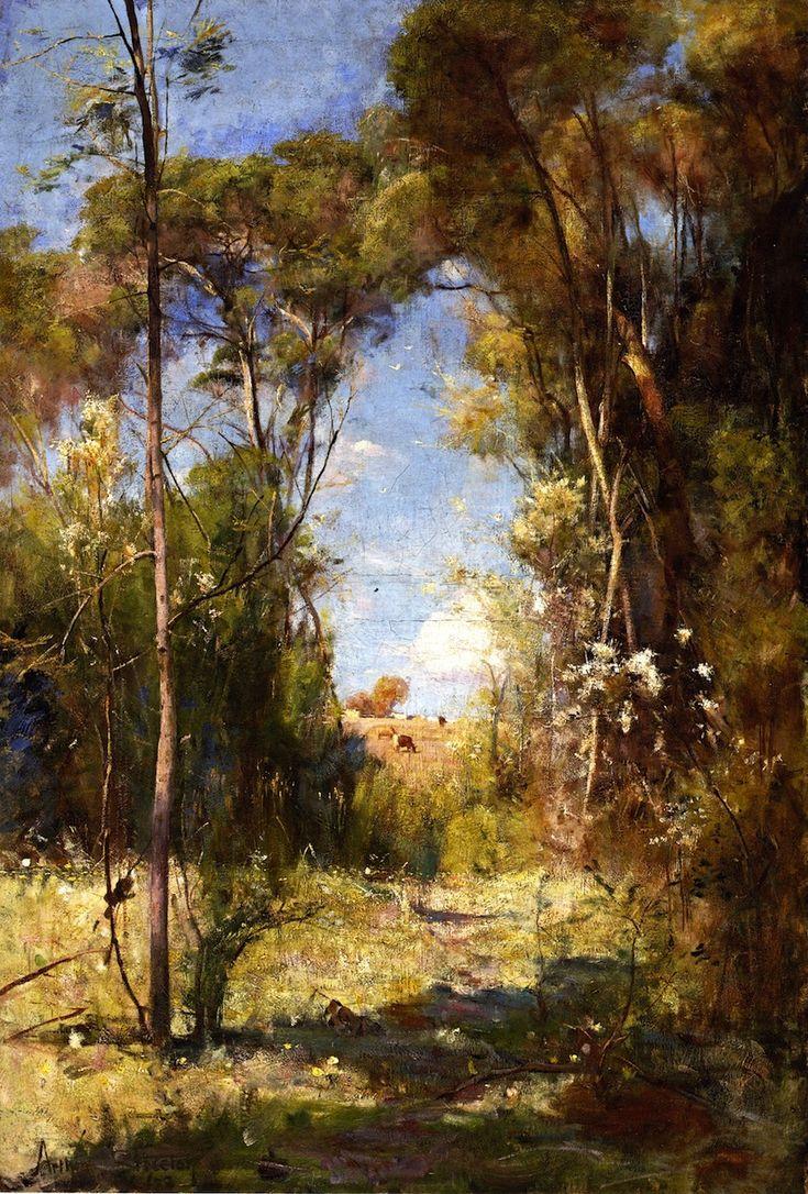 A Pastoral (A Summer Afternoon) 1888 ( Box Hill, Melbourne, Victoria, Australia) - Arthur Streeton (Mt Duneed, Victoria, Australia 1867 – Olinda, Victoria, Australia 1943)