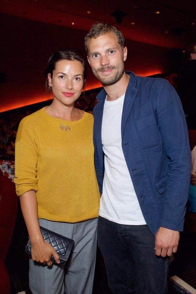 Jamie and Millie at a screening for the British Fashion Counsel. 6-2017