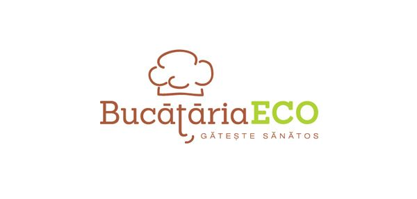 BucatariaECO logo (website that sales eco-friendly kitchen products) by Corina Rosca http://www.behance.net/gallery/Logos-2012-2013/8732413