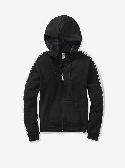 Faux Fur Lined Hood Slouchy Full-Zip. Nike Air VaporMax Plus Black ... daf25db65