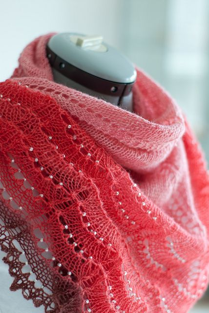 How To Incorporate Beads (link).  handspun holden shawl by rjrahardjo, via Flickr.