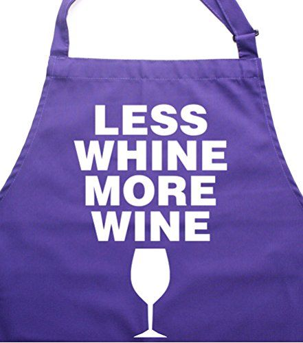LESS WHINE, MORE WINE' Purple Apron