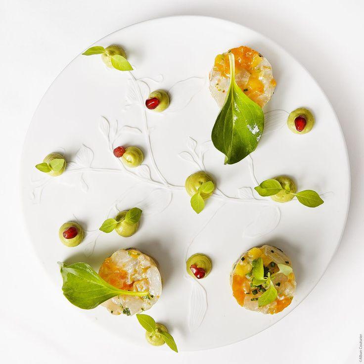 recette de Ceviche de bar, mangue, avocat, yuzu par alan geaam