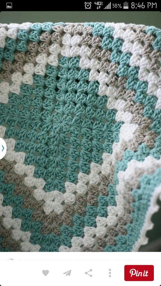 Mejores 418 imágenes de Crocheted blankets en Pinterest | Mantas de ...