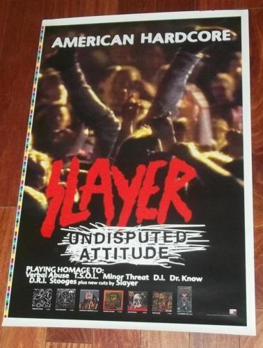 SLAYER-UNDISPUTED-ATTITUDE-US-PROMO-POSTER-American-Hardcore-Speed-Metal-24-x-36