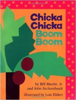 Chicka Chicka Boom Boom book activity for letter learning in preschoolers