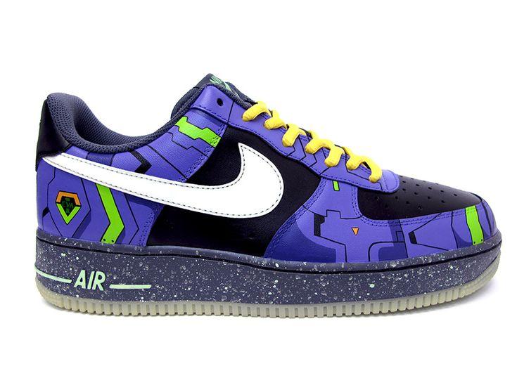 """Nike Air Force 1 """"Evangelion"""" Customs by Sekure D"""