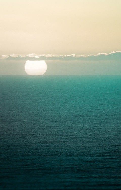 : Pastel, Blue, Ocean Cities, The Ocean, Ocean Sunsets, Places, Around The World, Ocean Photography, Ocean View