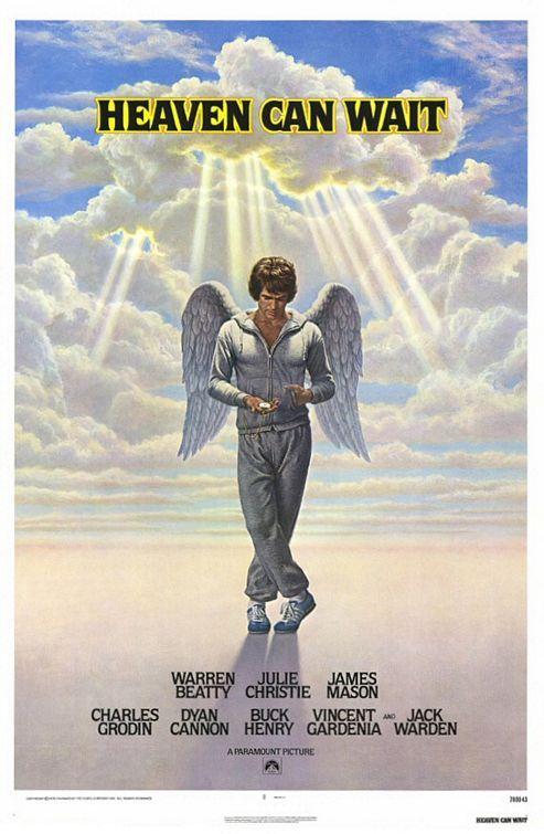 "MP929. ""Heaven Can Wait"" Movie Poster by Birney Lettick (Warren Beatty 1978) / #Movieposter"