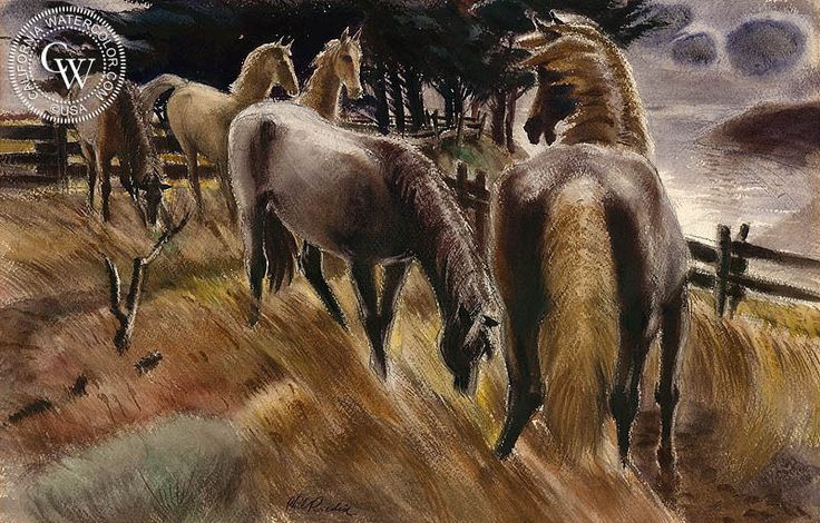 Pasture on the North Coast, art by Phil Paradise – California Watercolor