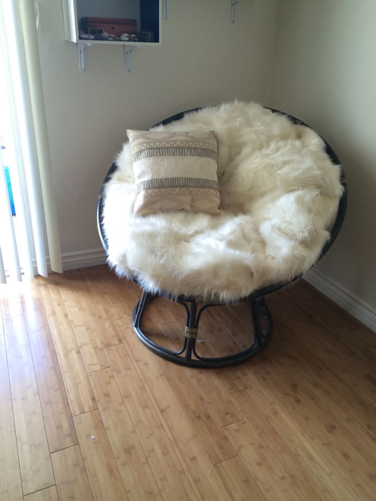 DIY Papasan Chair cushion It's so fluffy !