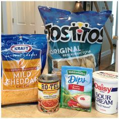 Fiesta ranch Dip - only 4 ingredients  FIESTA RANCH DIP Print Recipe  Ingredients *1 packet Hidden Valley Fiesta Ranch Dip - (reduce amount for less intense flavor)  10 ounce can Rotel Original (drain excess liquid) 16 oz sour cream 1 cup finely shredded cheddar cheese Directions Mix all ingredients in a medium size bowl.  Chill in fridge for 1 hour.  Serve with your favorite tortilla chips.  Great with veggies too!  Enjoy!