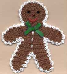 GINGERBREAD BOY--free pattern, thanks so xox ☆ ★   https://www.pinterest.com/peacefuldoves/