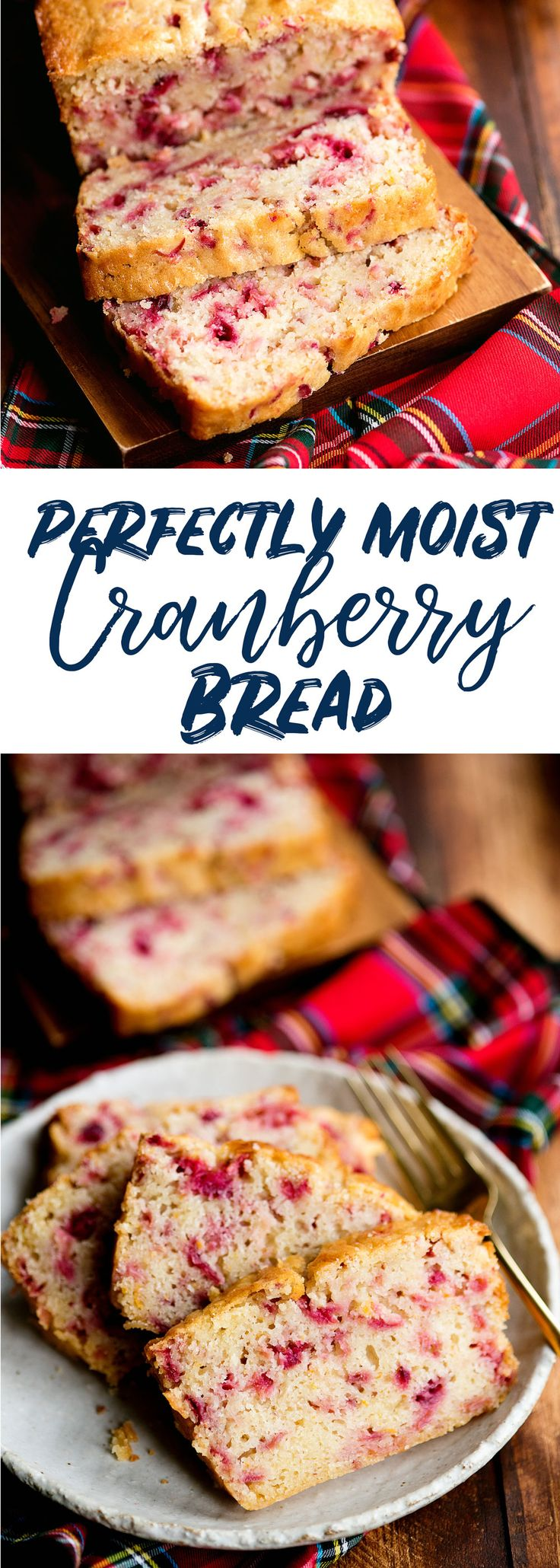 Tart and sweet cranberry bread recipe with just a tiny bit of crispness that protects each soft and moist slice. The best cranberry bread you'll ever eat. via @sideofsweet