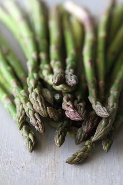 Roasted Asparagus with Miso Lime Dressing | Recipe
