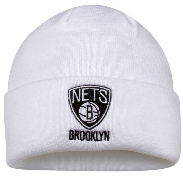 6f5c6848860 ... adidas Brooklyn Nets Basic Logo Cuffed Knit Beanie - White - 11.99 ...