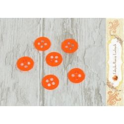 Guziki 1,5cm x 1,5cm Pomarańczowe F45