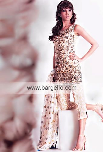 High Fashion Pakistani Party Dresses and Evening Dresses available for online Sales D1323 What's Cropped