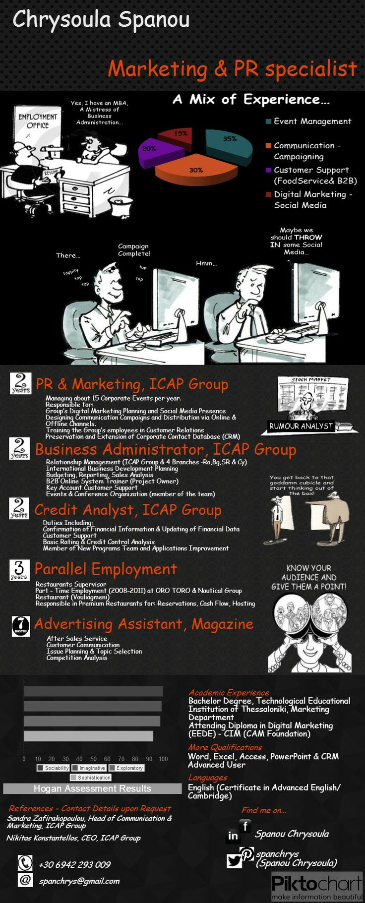 Infographic Visual Resume 69 best Visual Resumes
