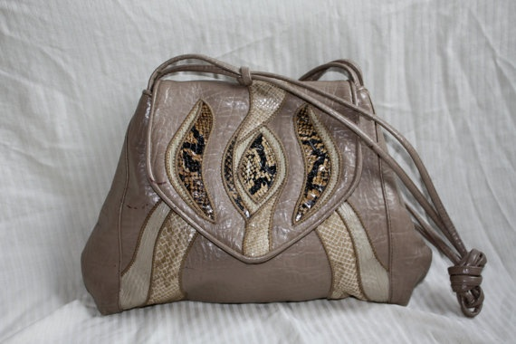 Sylvia Serpent Purse 80s by in2purses2010 on Etsy, $13.25