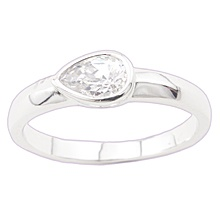 """""""Dew Drops""""  $39.99 CAD -  This adorable little ring features a water drop shaped clear triple A cubic zirconia set in a band finished in GLEAMING GOLD. Nickel and lead free. Size 7."""