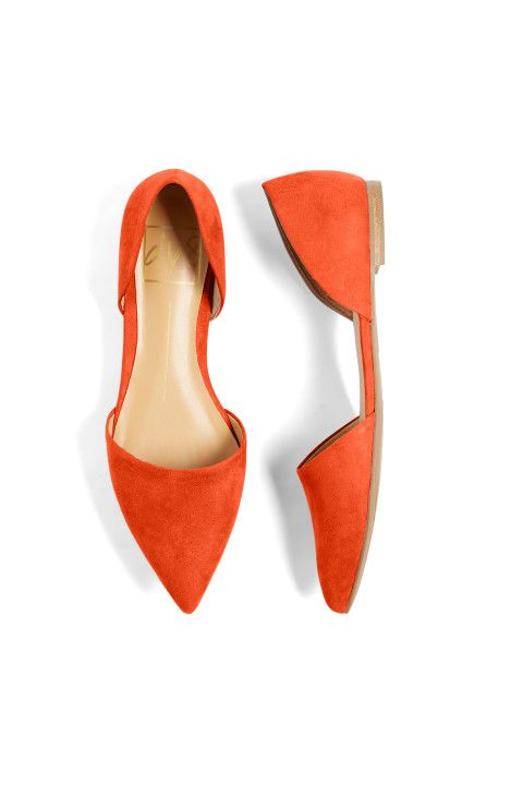 I love the color and style of these D'Orsay Flats